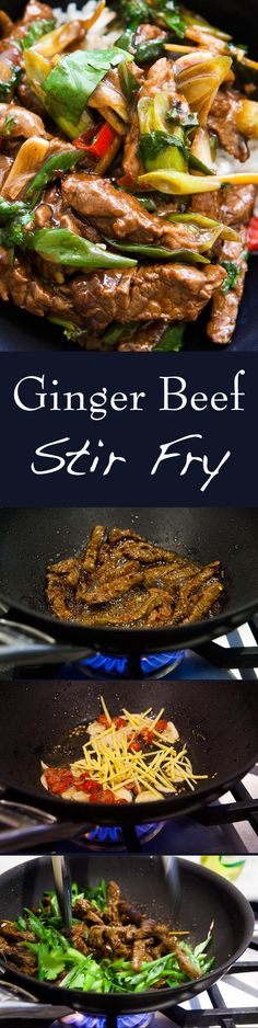 With ginger and scallions and a honey soy marinade. Cooks up in minutes! On Easy Beef Stir Fry! With ginger and scallions and a honey soy marinade. Cooks up in minutes! Stir Fry Recipes, Beef Recipes, Cooking Recipes, Healthy Recipes, Recipies, Sirloin Recipes, Beef Sirloin, Beef Meals, Meatball Recipes