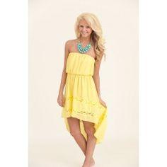 Brighter Side of Life Dress-Lemon - $40.00