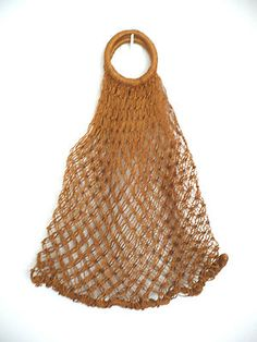 natural fibers netted bag, remember these?