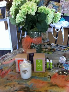 soy candles and olive oil lip balm from 80 Acres!