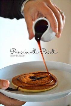 Cucina di Barbara: food blog - blog di cucina con ricette: Ricetta pancakes alla ricotta con salsa al caramello