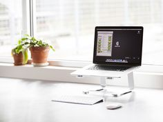 Griffin Elevator laptop stand: Good way to raise your laptop to eye level to create better posture and healthier desk habits