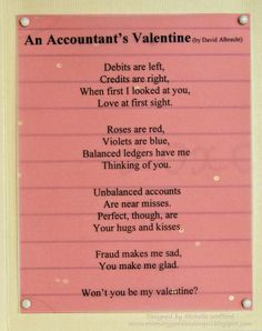 An accountant's Valentine #accountinghumour