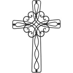 Modern & Contemporary Metal Wall Cross by Fleur De Lis Living Cross Wall Decor, Crosses Decor, Wall Crosses, Metal Crosses, Mosaic Crosses, Metal Walls, Metal Wall Art, Cross Drawing, Bijoux Fil Aluminium