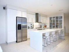 Classic single-line kitchen design using tiles - Kitchen Photo 421919