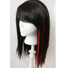SALE  // Vampire Black Wig with Red Clip in // by TiffanyDeMichele, $82.00