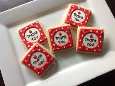 "1 dozen teacher appreciation "" Thank you"" cookies/ school"