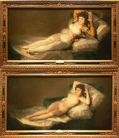 """The Maja"" by Goya at the Prado, Madrid, Spain"