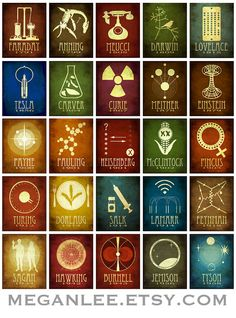 24x36 Science Poster 50 Designs in One Geek Chic Decor