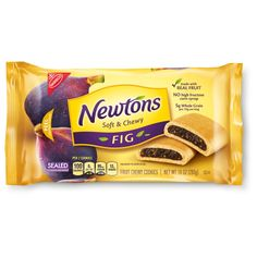 Keep it real and delicious with Newtons cookies made with whole grains and real fruit. These classic cookies with the chewy center, have been enjoyed by millions for over a century. Newtons are a Kosher Certified, low-fat treat. Made with real and contain no high fructose corn syrup. The classic fig flavor is just like you remember. This includes 10oz package of Newtons Fig Original Soft & Chewy Fruit Cookies