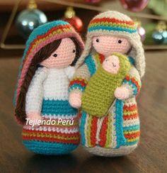 San José y Maria tejidos a crochet (amigurumi)