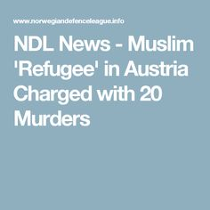 NDL News - Muslim 'Refugee' in Austria Charged with 20 Murders