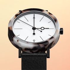 Inspired by inanimate rocks from space the acetate patterns on the 38mm case are…