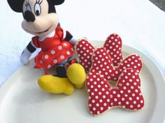 Minnie Mouse play food cookies by cheryleoc on Etsy, $14.00