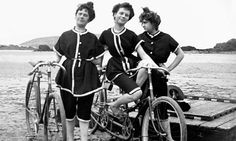 Women in bathing suits with bicycles. c. 1910s. Photograph: Roger Viollet/Getty Images