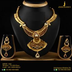 Gold 916 Premium Design Get in touch with us on Antique Necklace, Antique Jewelry, Gold Jewelry, Gold Necklaces, Art Deco Fashion, Fashion Jewelry, Jewellery Sketches, Art Nouveau Jewelry, Latest Jewellery