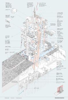 RIBA Silver Medal: Nick Elias (Bartlett School of Architecture). Image Courtesy of RIBA