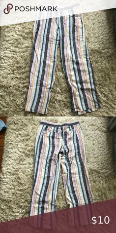 Striped Linen Beach Pants Linen pants that are perfectly breathable for the summer. Never been worn. Old Navy Pants Linen Beach Pants, Linen Pants, Striped Linen, Navy Pants, Fashion Tips, Fashion Design, Fashion Trends, Pant Jumpsuit, Navy And White