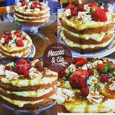Torta Flutuante - disparando entre a preferência da clientela    #padariamassasecia #dessert #sobremesa #tortas #pie #strawberry #instasweet