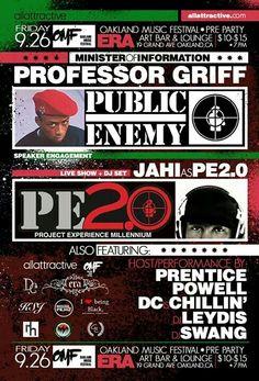 Allattractive Presents Professor Griff of Public Enemy - Speaking Engagement LIVE in Oakland CA
