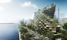 Ziggurat-like modular high-rise twists like a plant to follow the sun