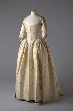 Eighteenth century wedding ensembleworn by Miss Jane Bailey on the day of her marriage to James Wickham, 1780