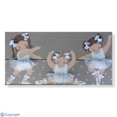 Cuadro infantil personalizado: Niñas bailarinas (ref. 12080-05)