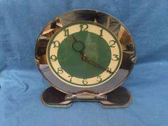 Beautiful bronze/apricot mirror faced art deco Smith's clock #Smiths