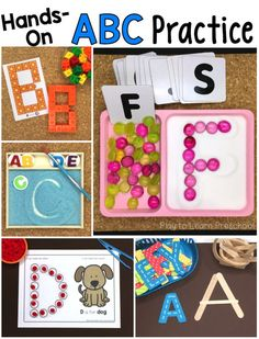 Alphabet Practice Ditch the worksheets with these 10 hands-on ways for preschoolers to practice the alphabet. via the worksheets with these 10 hands-on ways for preschoolers to practice the alphabet. Preschool Writing, Preschool Literacy, Literacy Activities, Preschool Activities, Kindergarten Classroom, Abc Centers, Preschool Centers, Teaching The Alphabet, Learning Letters