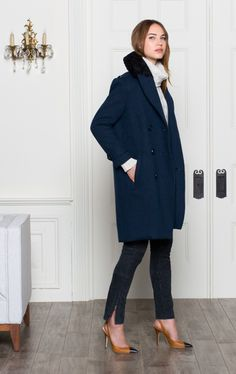 Emerson Fry FW 2013 navy coat, big turtle neck sweater, skinny jeans and pumps...me, me and also me :)