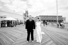 {Real Wedding} Alison & Brian: Vintage Boardwalk Wedding on the Jersey Shore - Oh Lovely Day