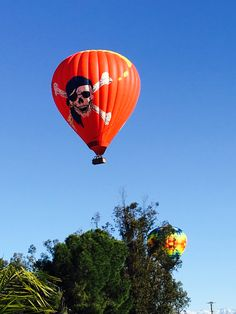 Front yard. Hot air balloon. Pirate