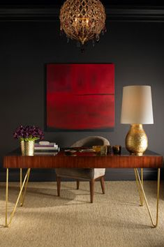 STYLEBEAT: AERIN'S REFINED ELEGANT FURNITURE LIGHTING AND RUGS AT HOME IN THE LATEST ARCHITECTURAL DIGEST