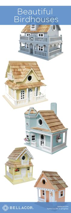 Beautiful Birdhouses at http://www.bellacor.com/beautiful-birdhouses.htm?partid=social_pinterestad_birdhouses