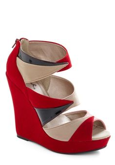 Your Point Being? Wedge | Mod Retro Vintage Wedges | ModCloth.com - StyleSays
