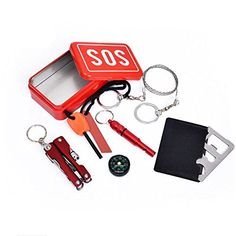 Purchase SOS Help Outdoor Sport Camping Hiking Survival Emergency Gear Tools Box Kit Set from Shenzhen Wanweile Network Tech on OpenSky. Camping Survival, Emergency Survival Kit, Emergency Equipment, Emergency Supplies, Outdoor Survival, Survival Gear, Outdoor Camping, Camping Equipment, Outdoor Travel