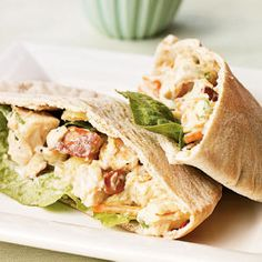 Superfast Chicken Recipes | Pineapple Chicken Salad Pitas | CookingLight.com