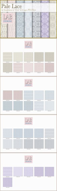 36 Seamless Pale Lace Textures. Textures. $12.00