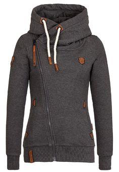 Charcoal Women's Zipped Hoodie