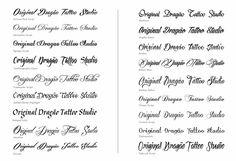 Tattoo Font - Words