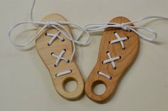 Wood Lacing Toy/Dexterity Toy by OakTreeArts on Etsy, $14.00