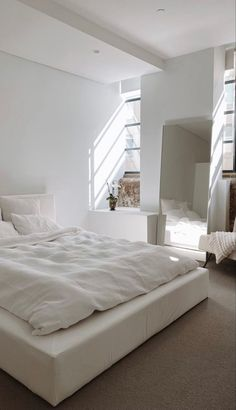 Room Design Bedroom, Room Ideas Bedroom, Home Room Design, Home Bedroom, Bedroom Decor, Bedrooms, Dream Rooms, Dream Bedroom, All White Bedroom