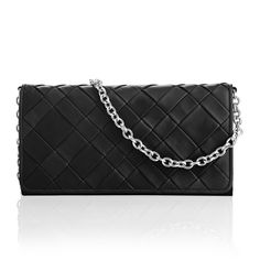 DONNA classy woven clutch Color: Black