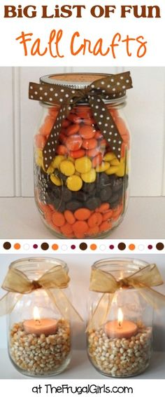 BIG List of Fun Fall Crafts! ~ from TheFrugalGirls.com - you'll love these fun Autumn Craft Ideas, Gifts in a Jar, and fabulous Home Decor Projects! #thefrugalgirls