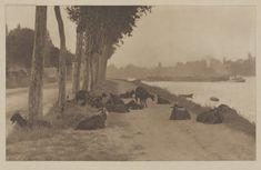 Alfred Stieglitz - On the Seine, Near Paris (1894) | Amon Carter Museum of American Art