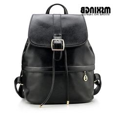 34.90$  Buy now - https://alitems.com/g/1e8d114494b01f4c715516525dc3e8/?i=5&ulp=https%3A%2F%2Fwww.aliexpress.com%2Fitem%2FFree-Shipping-2015-Fashion-Women-Backpack-Leather-College-Style-Pu-Leather-Backpack-For-Teenagers-Girls-SchoolbagTravel%2F32418119453.html - Fashion Women Backpack Genuine Leather College Wind Students Backpacks For Teenagers Girls Schoolbag Travel Bag Mochila Feminina