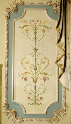 Wall Stencil Marie-Antoinette Grand Panel - Amazing Detail - French Decor - We are proud to offer our French panel series reusable wall stencils! Marie-Antoinette s - Cutting Edge Stencils, Marie Antoinette, Free Stencils, Faux Painting, Painting Walls, Tole Painting, Decorative Panels, Stencil Designs, Stencil Patterns