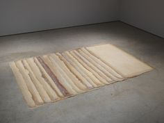 """Eva Hesse: """"Augment"""", 1968. Latex and canvas, installation variable: 17 units, each 78 x 40 inches"""
