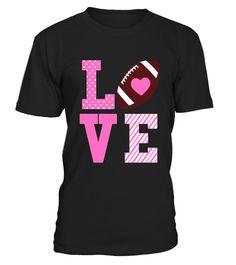 Heart Love Football T Shirt for Girls Women Mom Gift Gifts For Teens, Gifts For Mom, T-shirt Humour, Tween Girls, Baby Girls, Welcome Back To School, Spirit Wear, Toddler Gifts, Cute Quotes