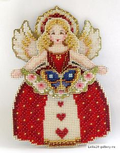 ru / Фото - Spirit of Holiday - natalytretyak Cross Stitch Angels, Beaded Cross Stitch, Cross Stitch Charts, Cross Stitch Embroidery, Cross Stitch Patterns, Christmas Cross, Christmas Angels, Modern Embroidery, Embroidery Patterns
